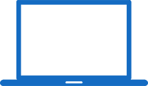 Blue Computer Repair Icon
